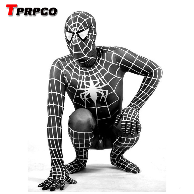 tprpco lycra spandex schwarz spiderman kost m kinder. Black Bedroom Furniture Sets. Home Design Ideas