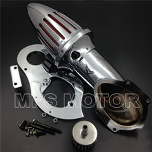 цена на Air Cleaner Kits intake filter for Honda Shadow 600 VLX600 VLX 1999-2012 Chrome Motorcycle Part