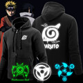 Naruto Hoodie New Anime Uchiha Sasuke Cosplay Coat Uzumaki Naruto Jacket Zipper Luminous Sweatshirts