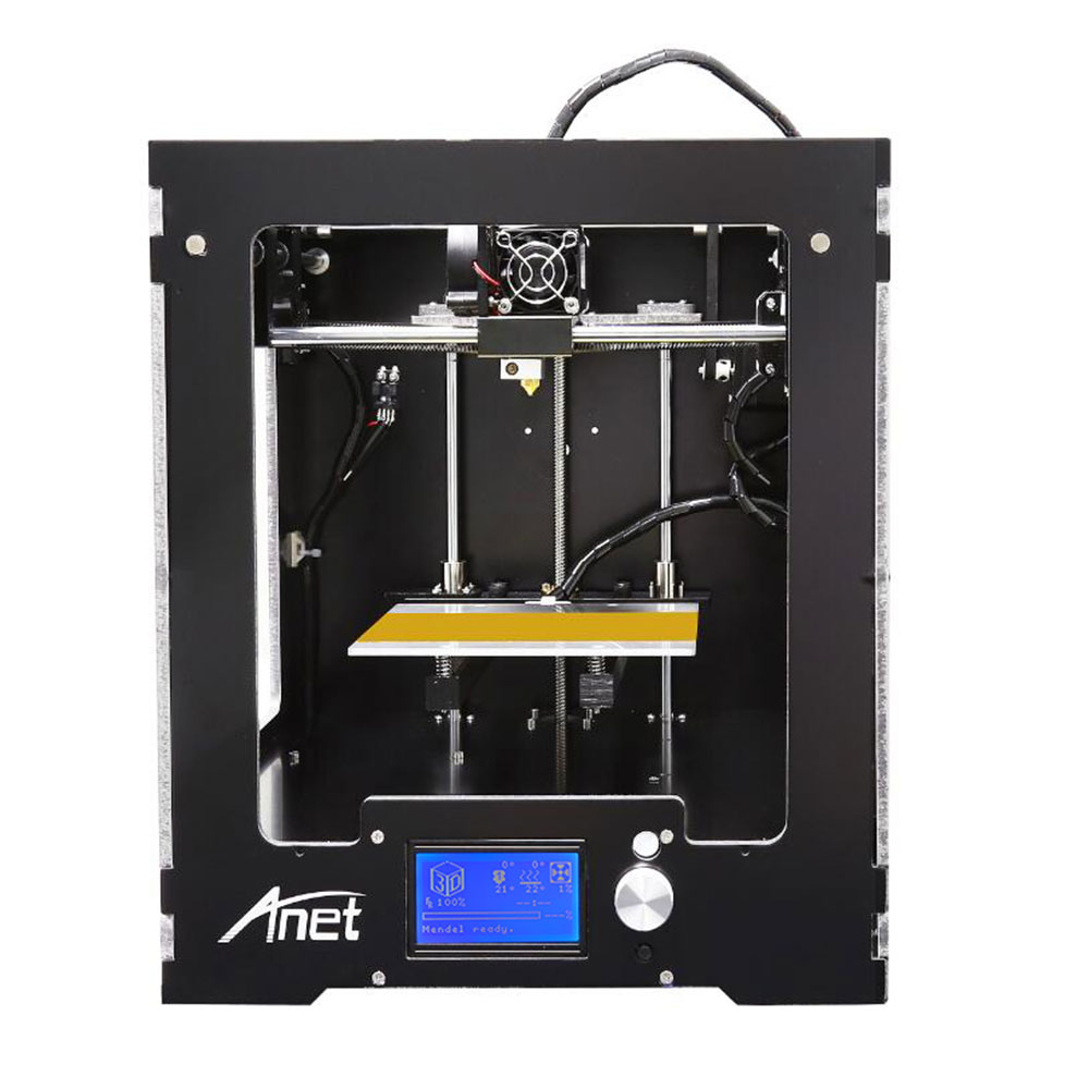 Anet A3 Full Assembled Desktop 3D Printer Aluminum Extruder Large Printing Size upgraded Mainboard+1KG Filaments 16GB SD Card  2017 hot anet a3 full assembled desktop 3d printer precision reprap prusa i3 3d printer with 1roll filaments 16g sd card tool