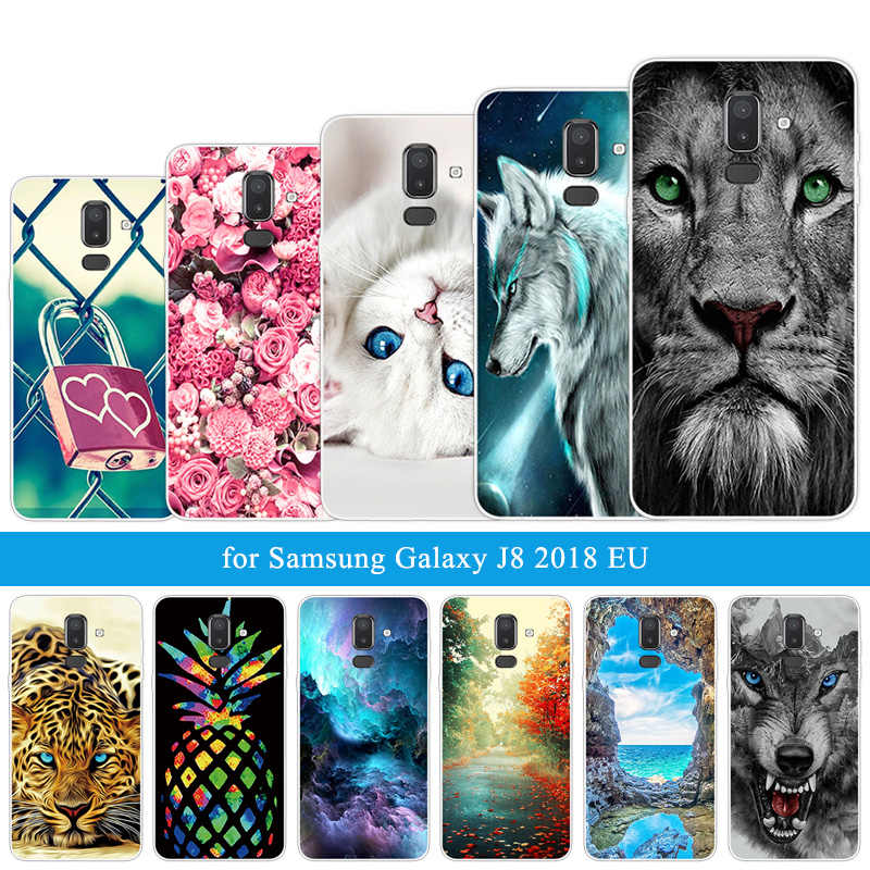 Wolf Coque Case For Samsung Galaxy J4 J6 J8 2018 EU S9 Plus Protect Silicon Phone Bag For Galaxy J7 2016 2017 S7 S6 Edge Plus