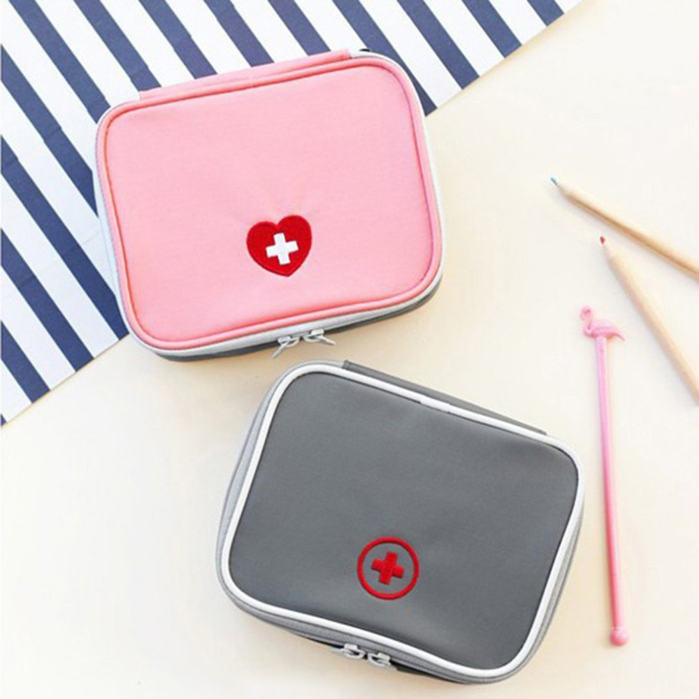 Candid Mini Outdoor First Aid Kit Bag Travel Portable Medicine Package Emergency Kit Bags Pill Storage Bag Small Organizer