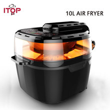Купить с кэшбэком ITOP Multifunctional 1200W 10L Air Fryer Electric French Fries Chicken Air Fryer No Smoke Oilless Intelligent Oven