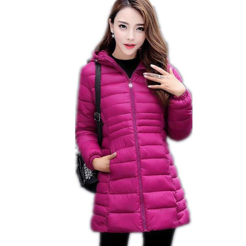 2017 New Winter Women Down Cotton Jacket Parka Female Slim &Light Hooded Medium-Long Cotton Size M-3XL Thin Outerwear Coat CQ314 nokotion 31bl6mb00n0 laptop motherboard for toshiba satellite l655 series a000075480 intel hm55 gma hd ddr3 da0bl6mb6g1