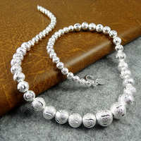 Hot sale,wholesale fashion jewelry 925 sterling silver jewelry necklace beads chain X25