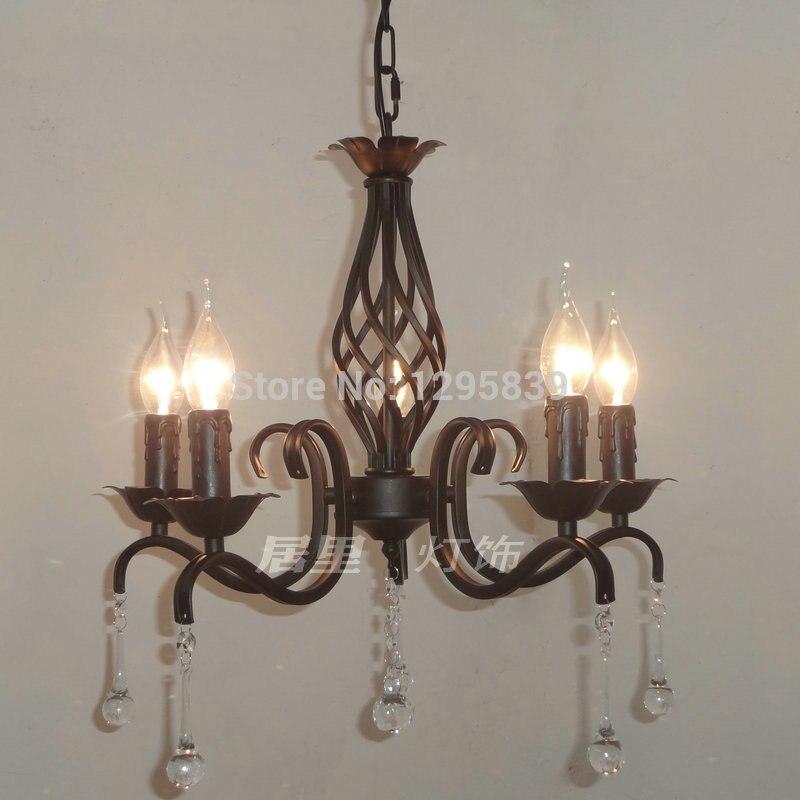 Multiple Black Wrought Iron Candle Pendant Light Fixtures Restaurants  Bedroom Garden Art Special Offer ZX99
