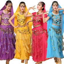 4pcs Sets Sexy India Egypt Belly Dance Costumes Bollywood Costumes Indian Dress Bellydance Dress Womens Belly Dancing Costume