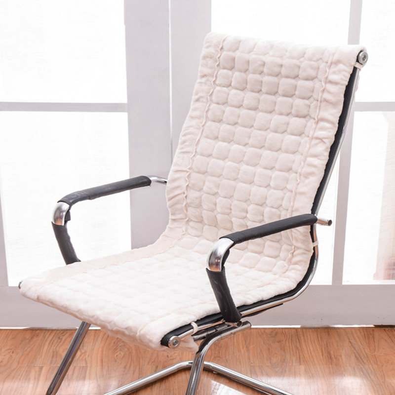 Us 14 0 30 Off Rectangle Winter Chair Cushion Rocking Chair Seat Pad Office Chair Cushions Integrated Seat Mat Europe Style Warm Seat Cushion In