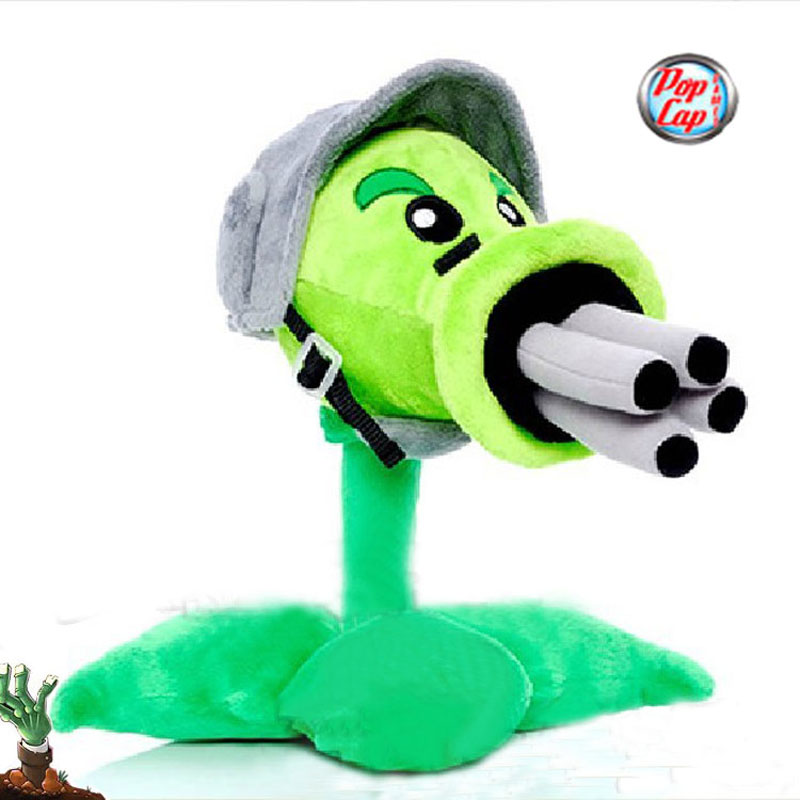 Star Product 12inch 30cm Lovely Plant Vs Zombies PopCap Gatling Peashooter Plush Toys,1pcs/pack ...