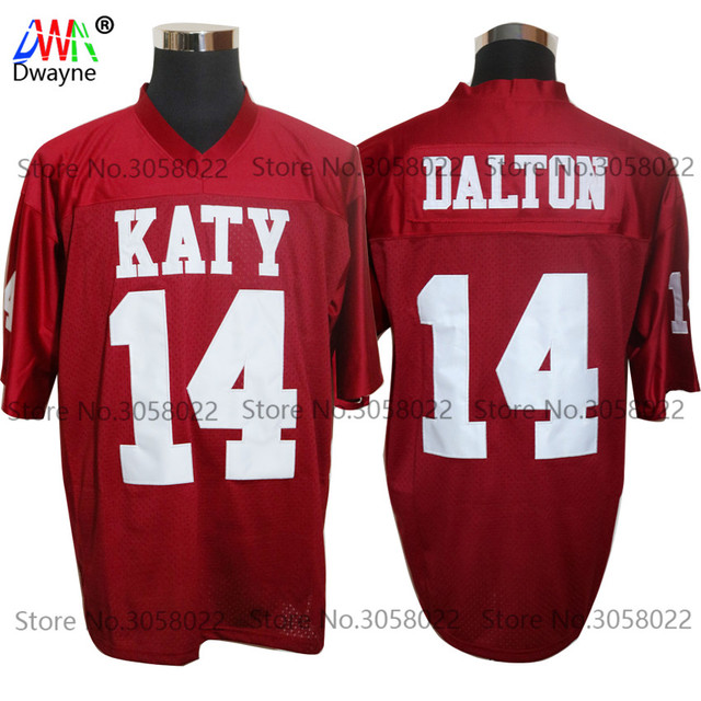 81ee115a6 2017 Cheap American Football Jerseys Red Andy Dalton 14 Katy High School  Throwback jerseys Retro Stitched Shirts