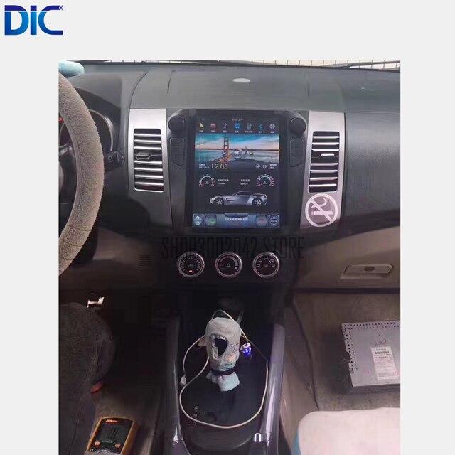 Vertical da tela de navegação 10.4 polegada Android 6.0 do GPS do carro styling espelho link Canbus radio stereo unidade Para Mitsubishi outlander