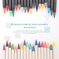 School student supplies for painting art supplies soft brush pen craft brush nylon brush head can add ink, watercolor pen