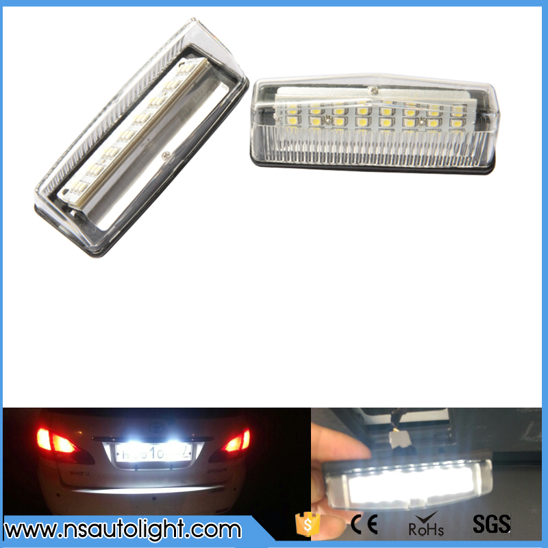 2X High Power Led Car Light White 24 SMD LED License Plate Light Lamp Bulbs For Toyota Prius License Plate Kits Free Shipping biety vehicle car seat head neck rest cushion pillows grey 2pcs