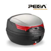 PEDA 2019 32L Motorcycle Topcase Non Broken PP Tail Box 43x41x32cm Scooter Cargo Case Carrier Box Topcases Carrier Box