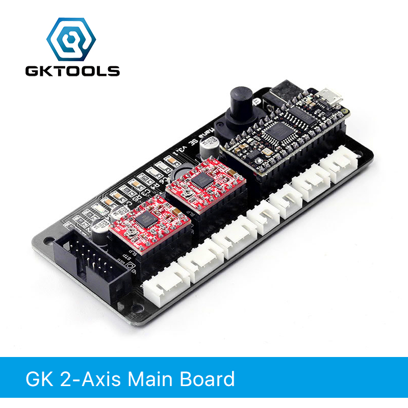 GKTOOL 2 Axis  Engraving machine motherboard For DIY Laser Engraver , Support GRBL BenBox .EleksMakerGKTOOL 2 Axis  Engraving machine motherboard For DIY Laser Engraver , Support GRBL BenBox .EleksMaker