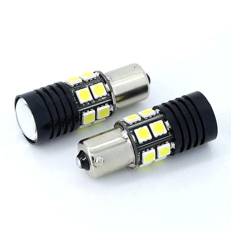 Par 1156 P21W beli Q5 čipi Canbus brez napake Avtomobilska LED - Avtomobilske luči - Fotografija 3