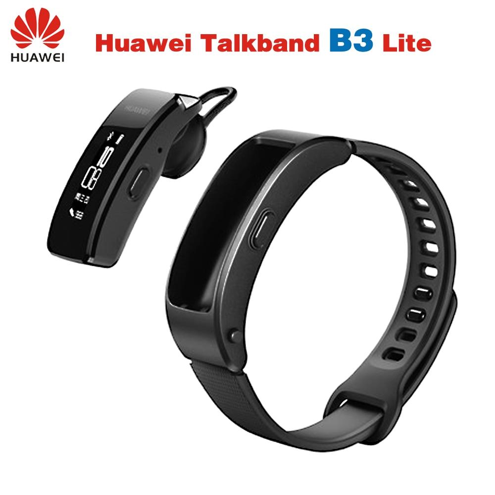 D'origine Huawei Talkband B3 Lite Smart Bracelet Bluetooth casque Réponse/Fin D'appel D'alarme Message Courir Marcher Sommeil Auto Track IP57
