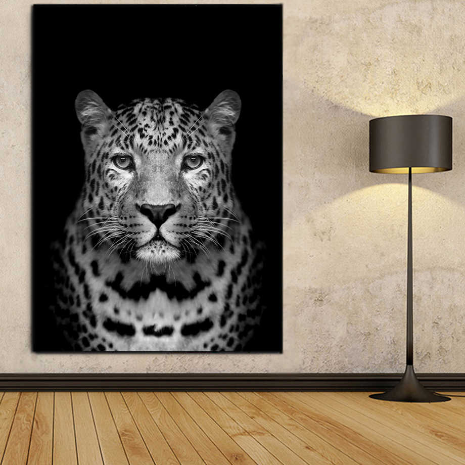Black And White Photo Leopard Wall Art Canvas Painting Nordic Posters And Print Animal Wall Pictures For Living Room Home Decor