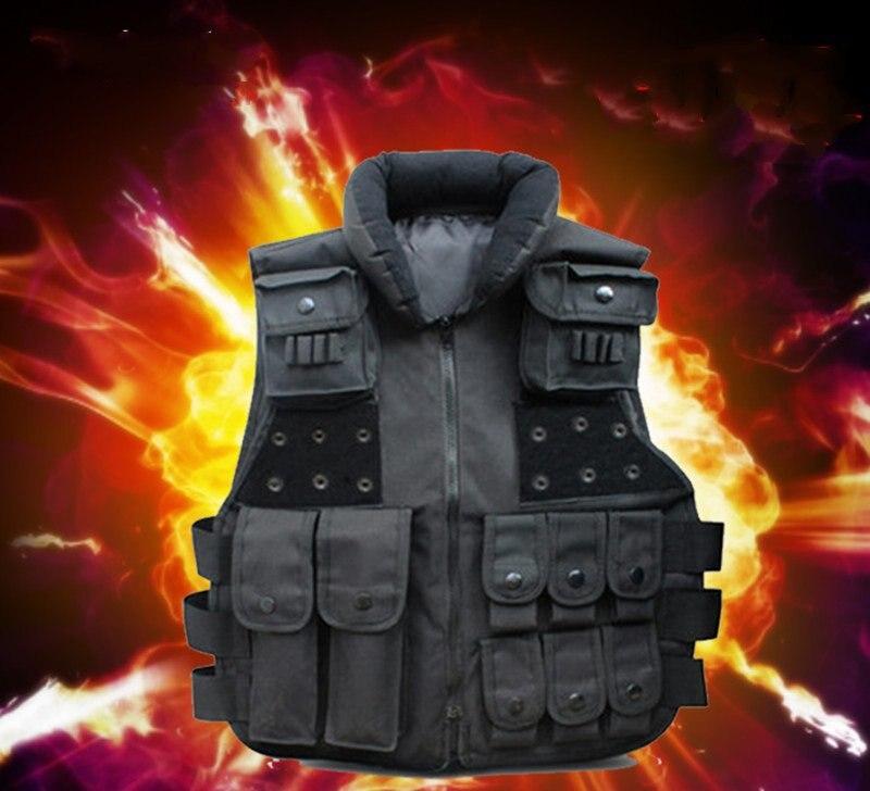 Outdoor riding CS field protection equipment black multi-pocket vest combat vest сумка pacific outdoor equipment wxtex hotsport iii black