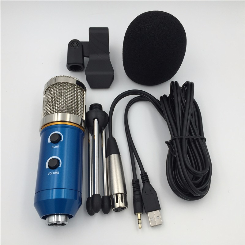 MK-F200TL microphone computer USB microphone professional System  Karaoke mk f200tl Amplifier player sound wired microphone