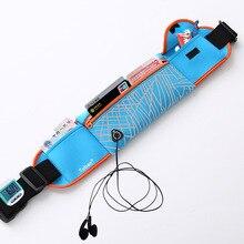TUban outdoor sports earphone hole waist bag night Reflective Running Multifunction Waist Bag Belt