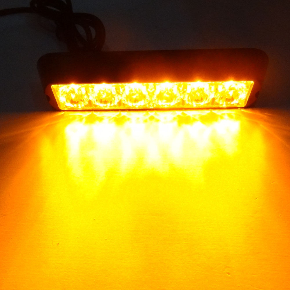 CYAN SOIL BAY Yellow Light Car Truck 6 LED Amber Beacon Emergency Lamp Hazard Strobe Warning