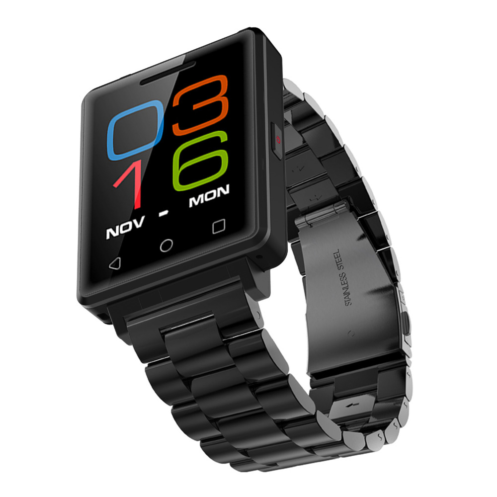 2017 Luxurious Micro SIM Sync Phone Business Smartwatches Sport Watches Multi-Function Touch Screen Fashion Smart Phone Watch