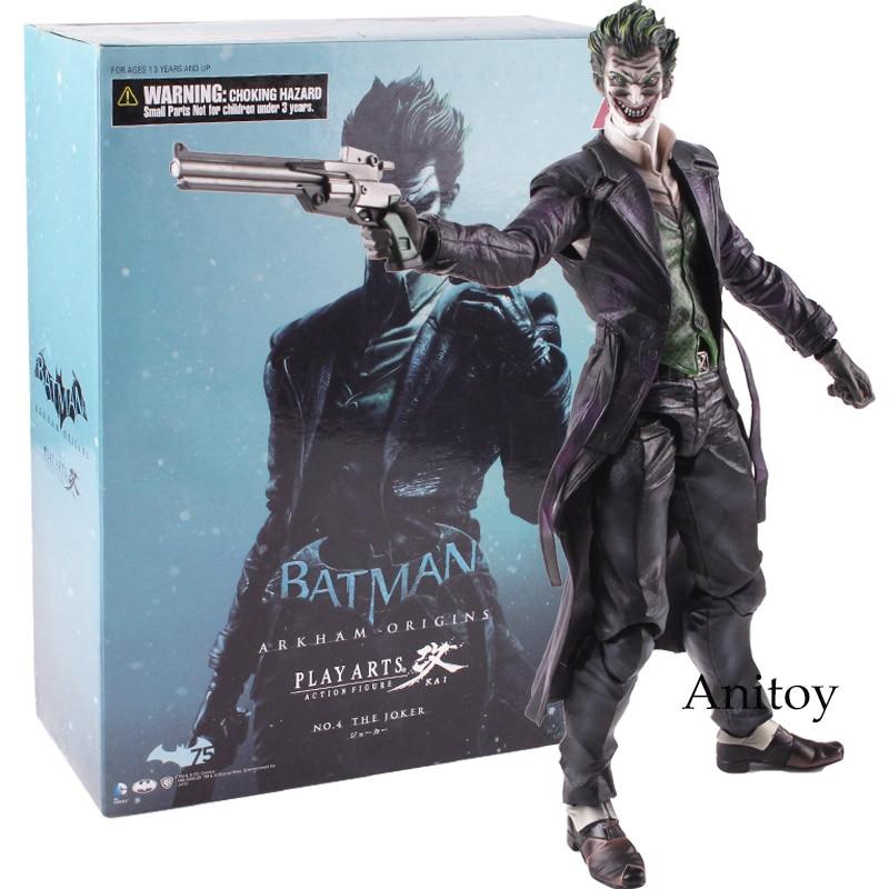Play Arts KAI Batman Joker Figure Arkham Origins NO.4 The Joker Action Figure Collectible Toy 26cm