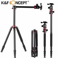K&F CONCEPT Professional Portable Tripod Aluminum Alloy Travel Tripod Monopod for Digital Video for Canon for Nikon for Cameras