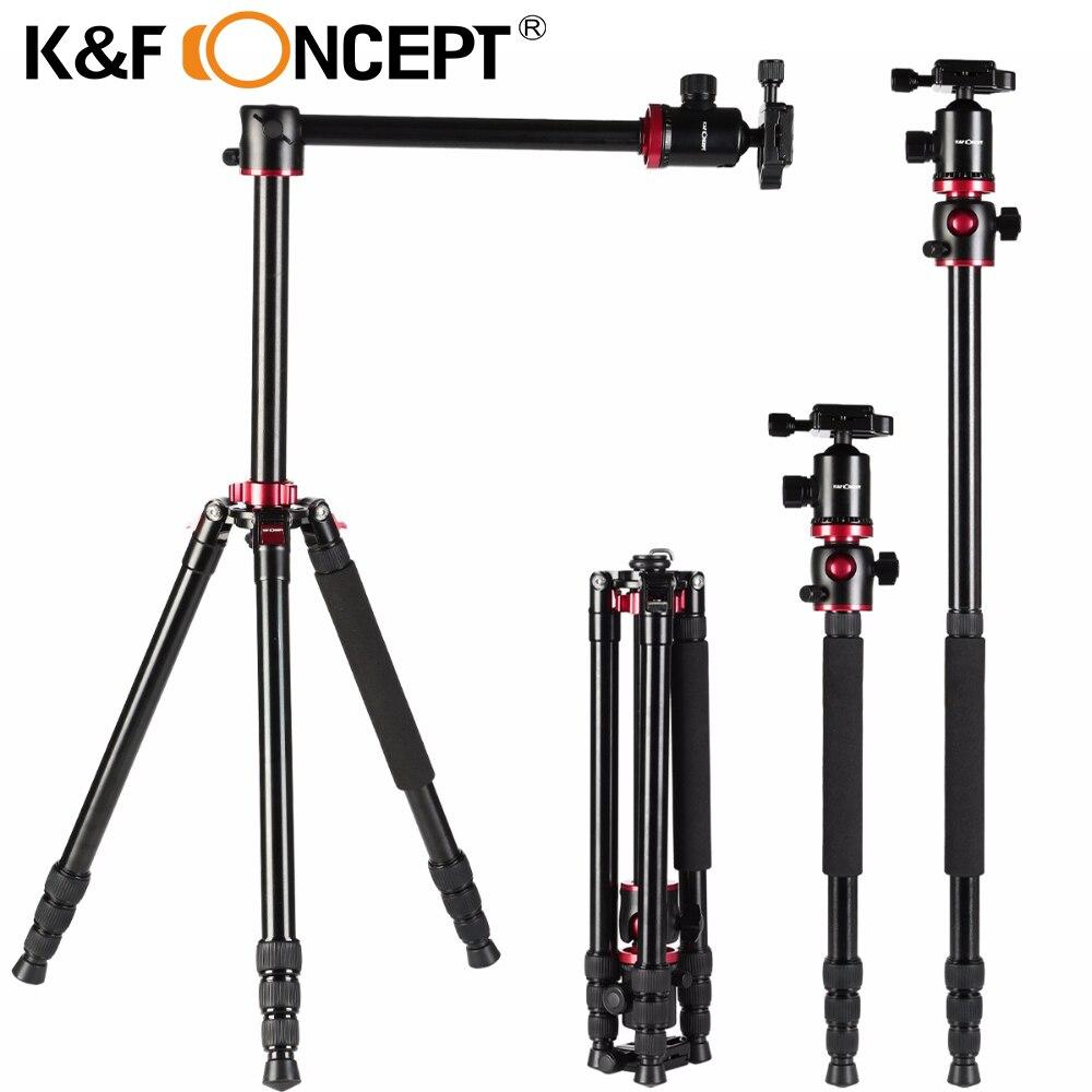 K & F CONCEPT Professionnel Portable Trépied En Alliage D'aluminium Voyage Trépied Manfrotto pour Numérique Vidéo pour Canon pour Nikon pour caméras