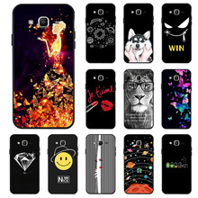 Ojeleye Fashion Black Silicon Case For Samsung Galaxy J2 Prime Cases Anti-knock Phone Cover Covers
