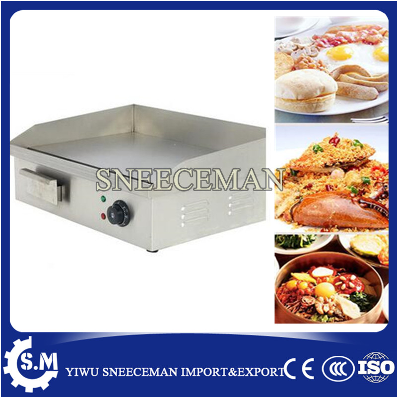 Stainless steel flat pan electric GRILL Griddle PLATE machine bread Grill food machine