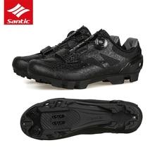 купить 2018 Santic Pro Team Design Cycling Shoes Men Self-locking Outdoor Non-slip Mountain Bike Shoes MTB Shoes Bicycle Sapatos Mens дешево