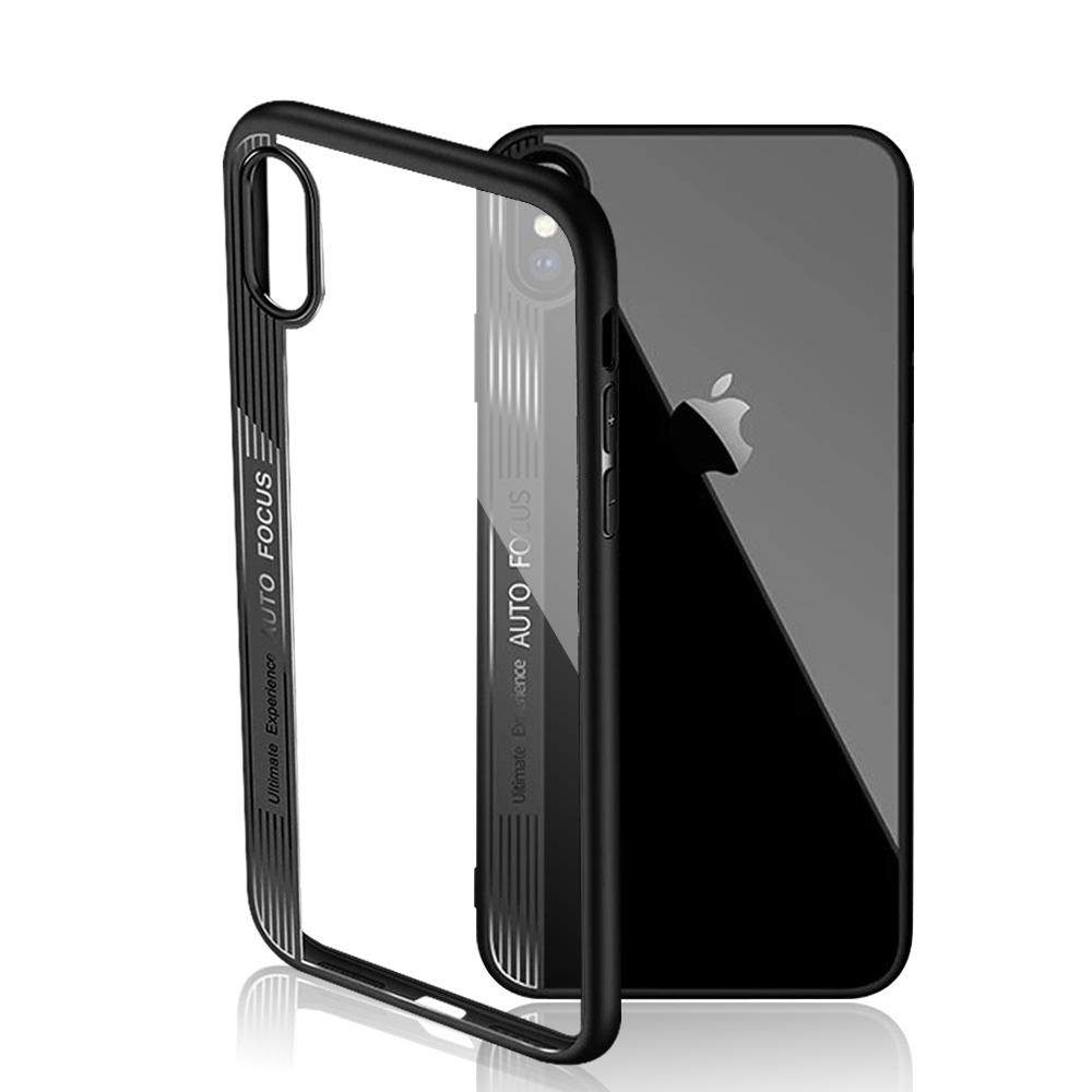 Ascromy For iPhone XS Max Case Clear TPU PC Silicone Bumper Transparent Phone Cover For Apple iPhone X S XR XS coque Accessories (2)