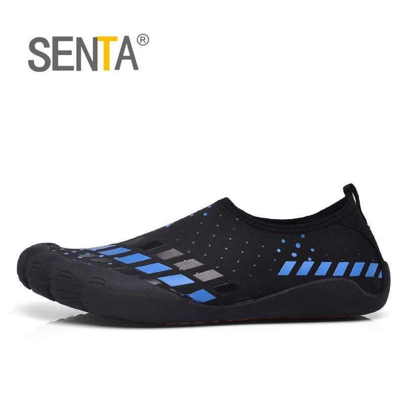 Mens Barefoot Shoes Running Blue/Black Footwear For Men Summer Jogging Shoes Men Slip On Running Shoes Lightweight Walking Shoes