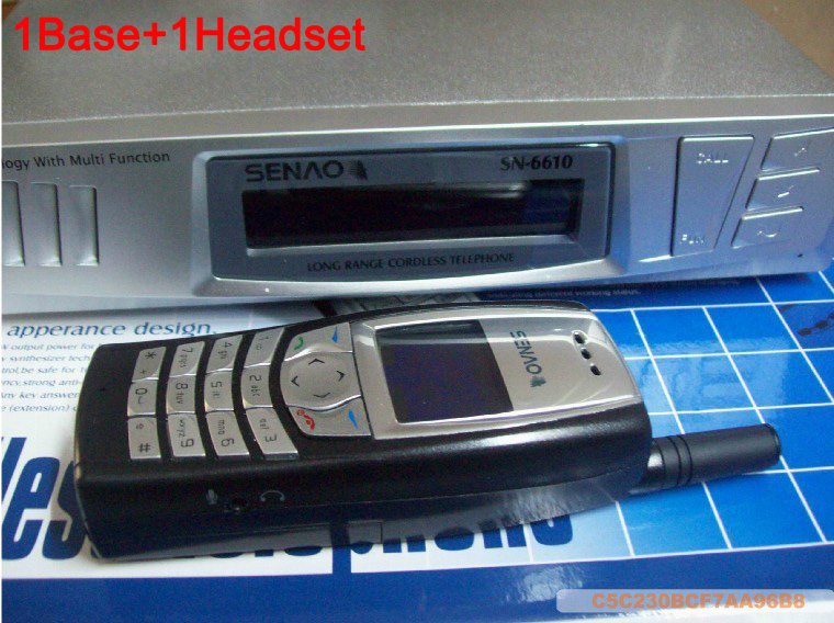 SENAO SN-6610 long distance cordless telephone 1 base support 9 extra handset Duplex Intercom