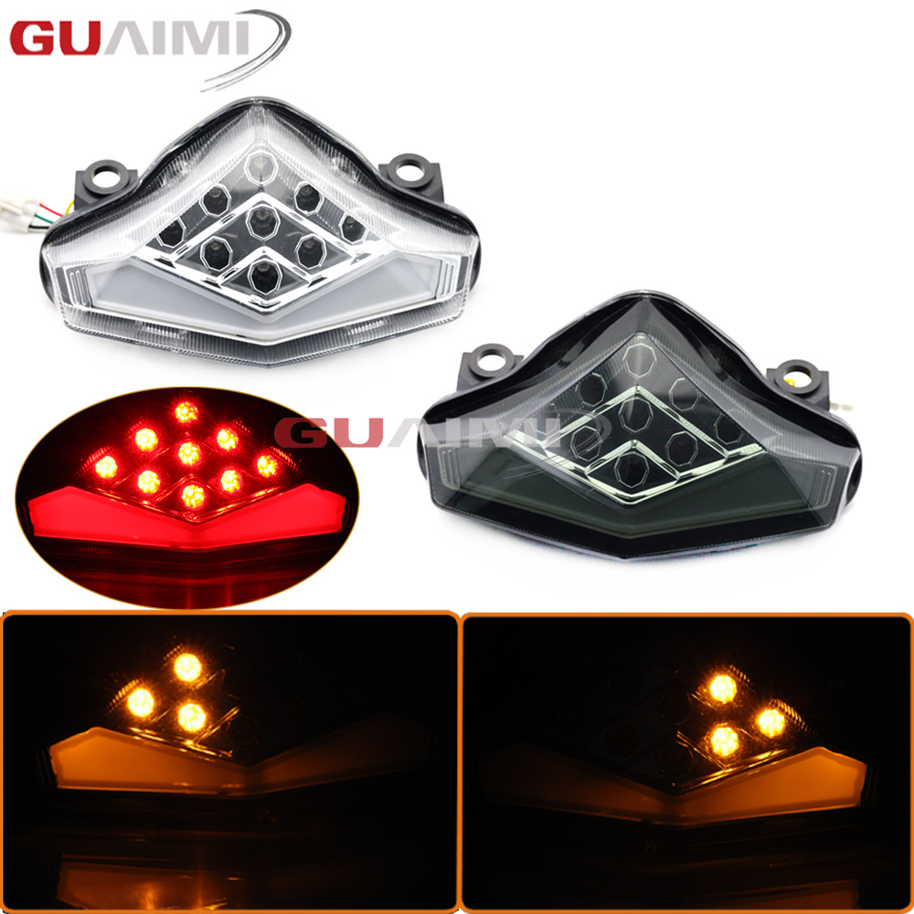 For KAWASAKI ER-6N ER-6F ER6N ER6F NINJA 650R 2012 2013 2014 2015 2016 Motorcycle Tail Light Turn signal Blinker Lamp Assembly for kawasaki ninja 250 300 z250 2013 2016 motorcycle accessories integrated led tail light turn signal blinker clear