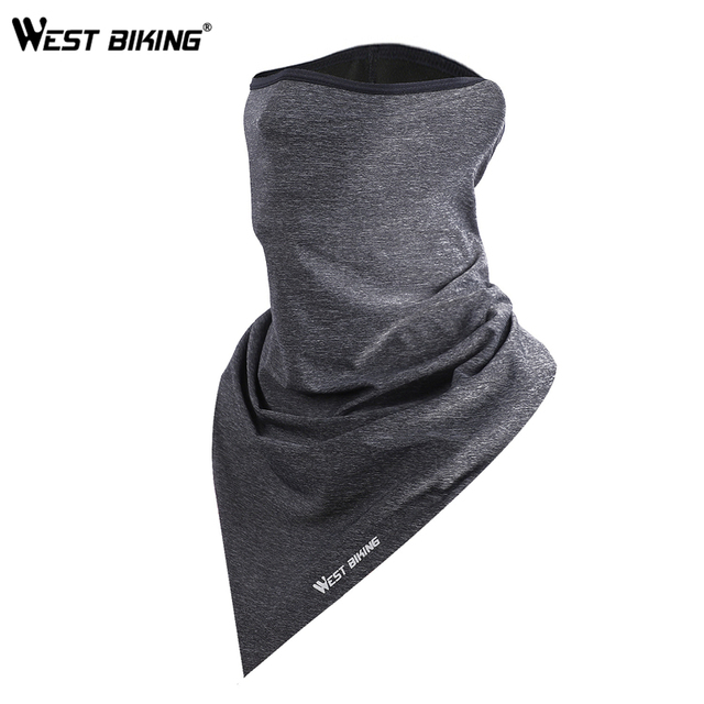 WEST BIKING Summer Breathable Cycling Face Mask Ice Fabric Bicycle Bandana Headwear Triangle Neck Scarf Fitness Sport Face Mask