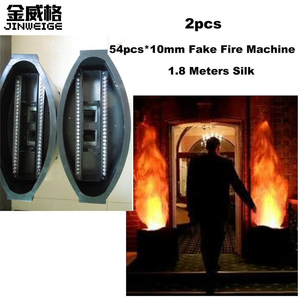 Free Shipping 2pcs Lot 36pcs 10mm Leds Silk Fake Fire