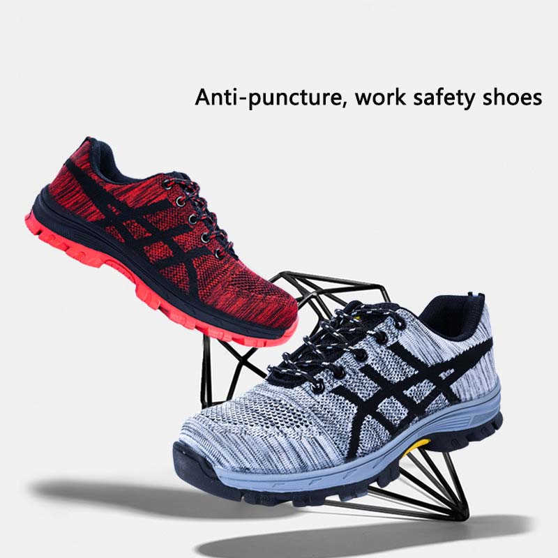 Plus Size Men Casual Breathable Summer Mesh Steel Toe Caps Work Safety Shoes Anti-pierce Construction Site Worker Security Boot