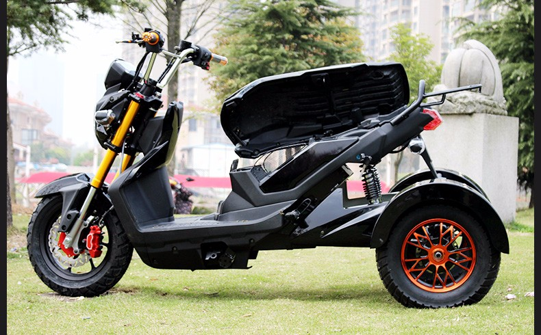 Электрический трехколесный самокат 1000 Вт 60 В три колеса двойные дисковые тормоза ряд в обязанность