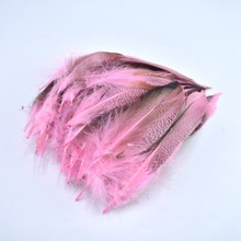 20pcs/lot pink natural Duck feather for clothes DIY colored feathers jewelry making Home plumas materials Wedding decoration