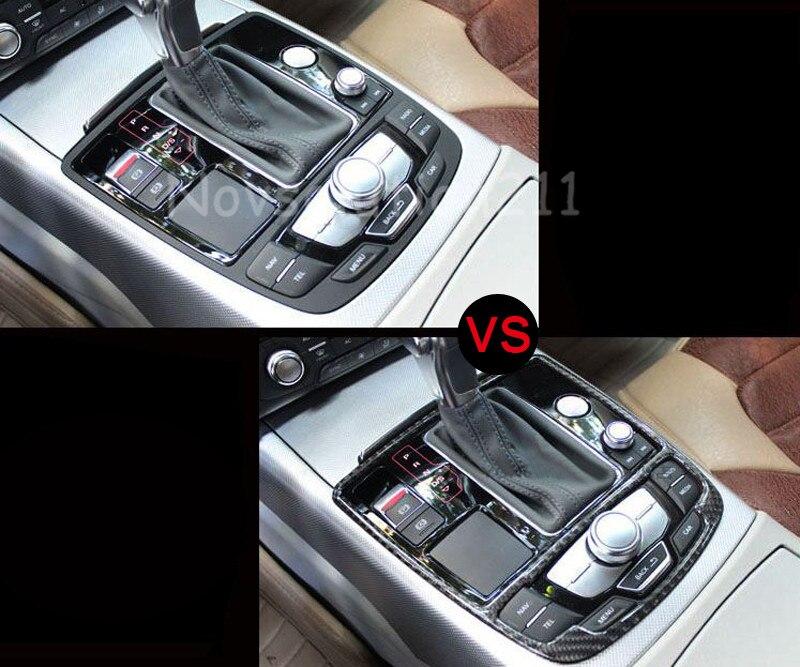 audi a7 interior 2016. carbon fiber gear box panel cover trim for audi a7 4g 20102016china interior 2016