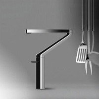 Новое поступление эксклюзивный последняя модель Латунь Chrome однорычажный кухонный кран раковина смесителя кухни