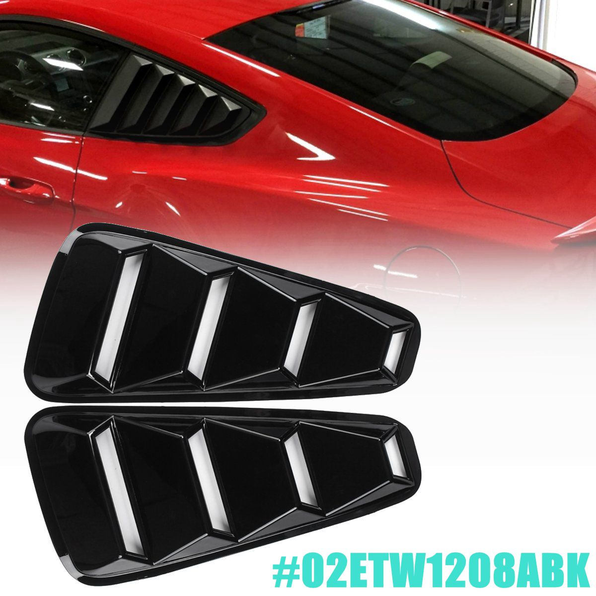 Gloss Black 14 Quarter Side Window Louver Vent Cover For Ford for Mustang 2005 2006 2007 2008 2009 2010 2011 2012 2013 2014