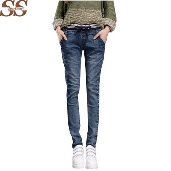 2017 New Jeans Femme Skinny Trousers Mid Waist Pencil Pants Full Length Spring Casual Wear Hot Selling
