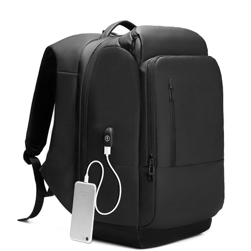 Hommes USB de charge 17 pouces sac à dos pour ordinateur portable Étanche Grande Capacité Multi-poche Haute capacité hommes Sacs À Dos décontracté nouveau jouet