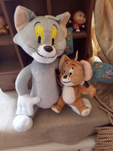 2pcs/set Tom and Jerry Mouse Plush Toys Cute Animal Stuffed Dolls for Kids Gifts