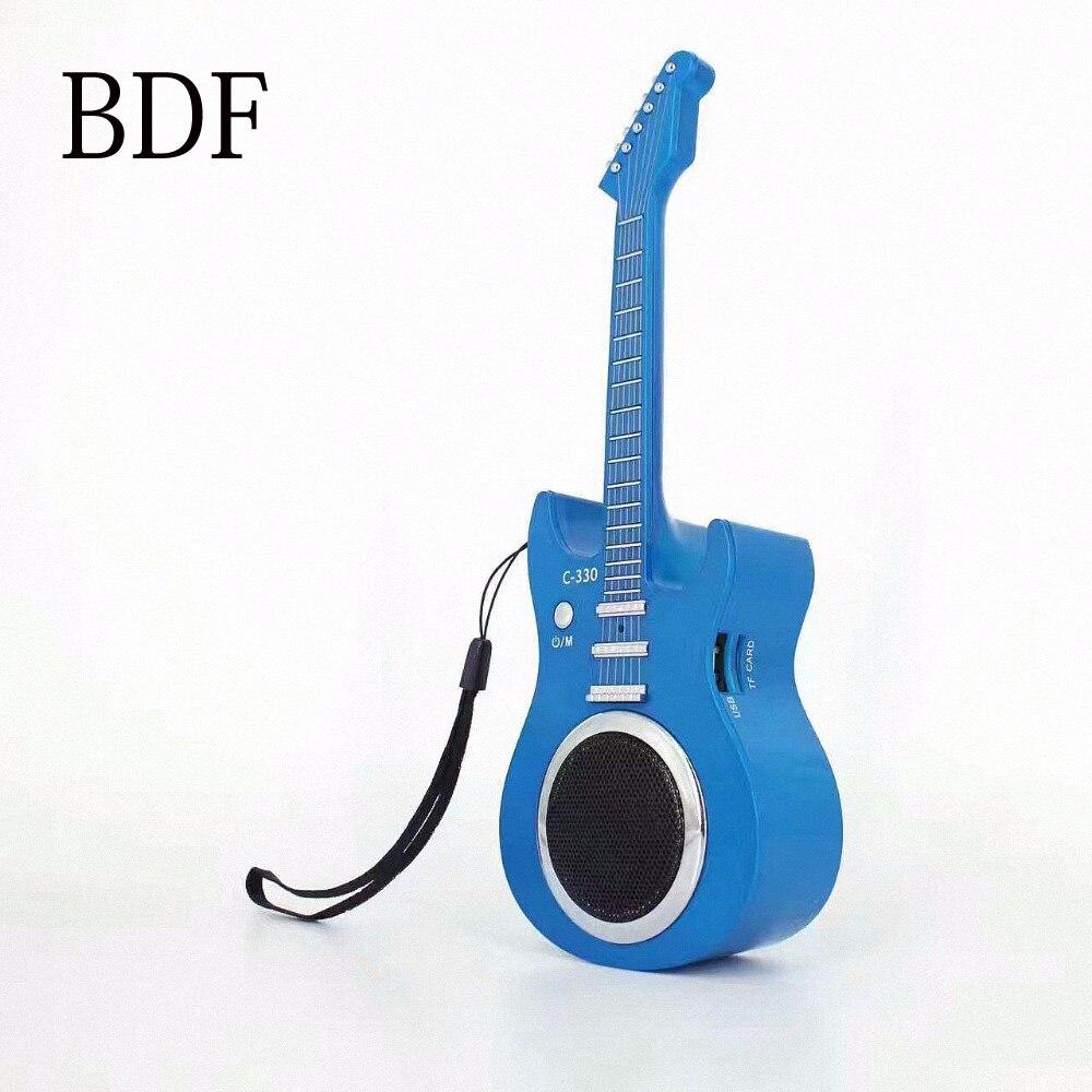 bdf mini little guitar portable mini bluetooth speaker 3w stereo sound box mp3 player subwoofer. Black Bedroom Furniture Sets. Home Design Ideas