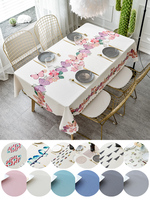 Nordic Table Cover PVC Plastic Table Cloth for Wedding Party Hotel Tablecloth Waterproof Oilproof Table Cloth Butterfly Printed